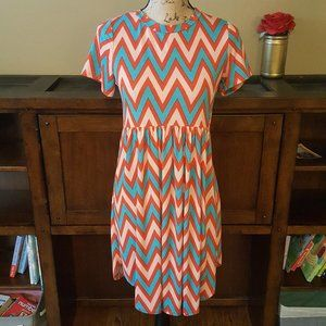 Bellamie Chevron Print Babydoll Dress Small